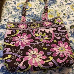 Vera Bradley small tote-purple punch